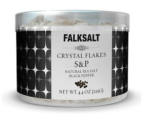 Salt, Falk Salt & Pepper Crystal Flakes - 4.4 oz