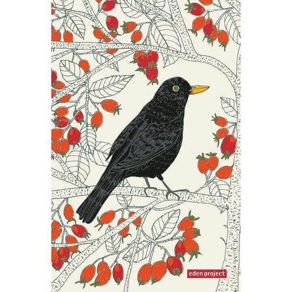 Tea Towel Cotton Blackbird <span style='padding-left:.5em;float:center;color:red;'>*NEW*</span>