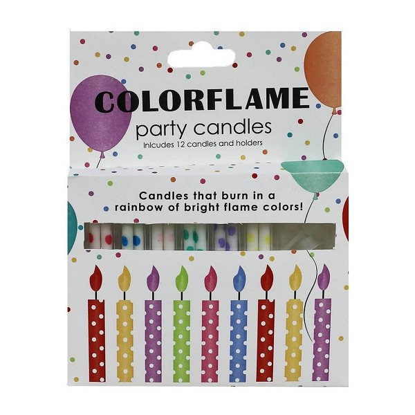 Birthday Candles Color Flame <span style='padding-left:.5em;float:center;color:red;'>*NEW*</span>